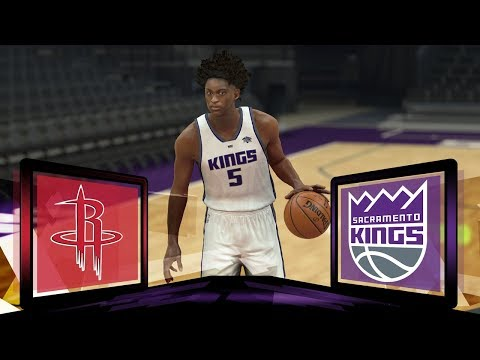 NBA Live 18 Sacramento Kings Franchise- Season Opener vs Houston Rockets (LIVE SERIES)
