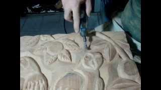 Dremel Micro Retífica -entalhe Em Madeira -amazonian Macaws Wood Carving