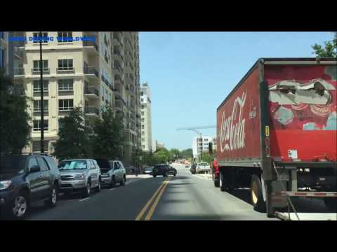 Driving in Charlotte North Carolina USA 2017 | Video Driving Worldwide