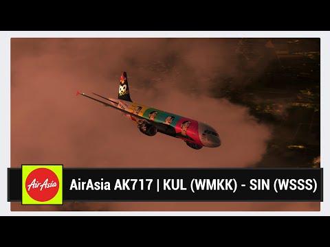 [FSX] AirAsia AK717 | Kuala Lumpur (WMKK) - Singapore (WSSS) | Aerosoft Airbus X