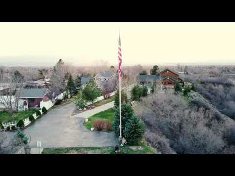 Canyon Rim / Salt Lake City Drone Flight (4k)
