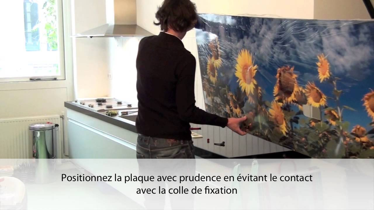 Fixation cr dence de cuisine de pimpyourkitchen youtube for Plaque a coller pour credence