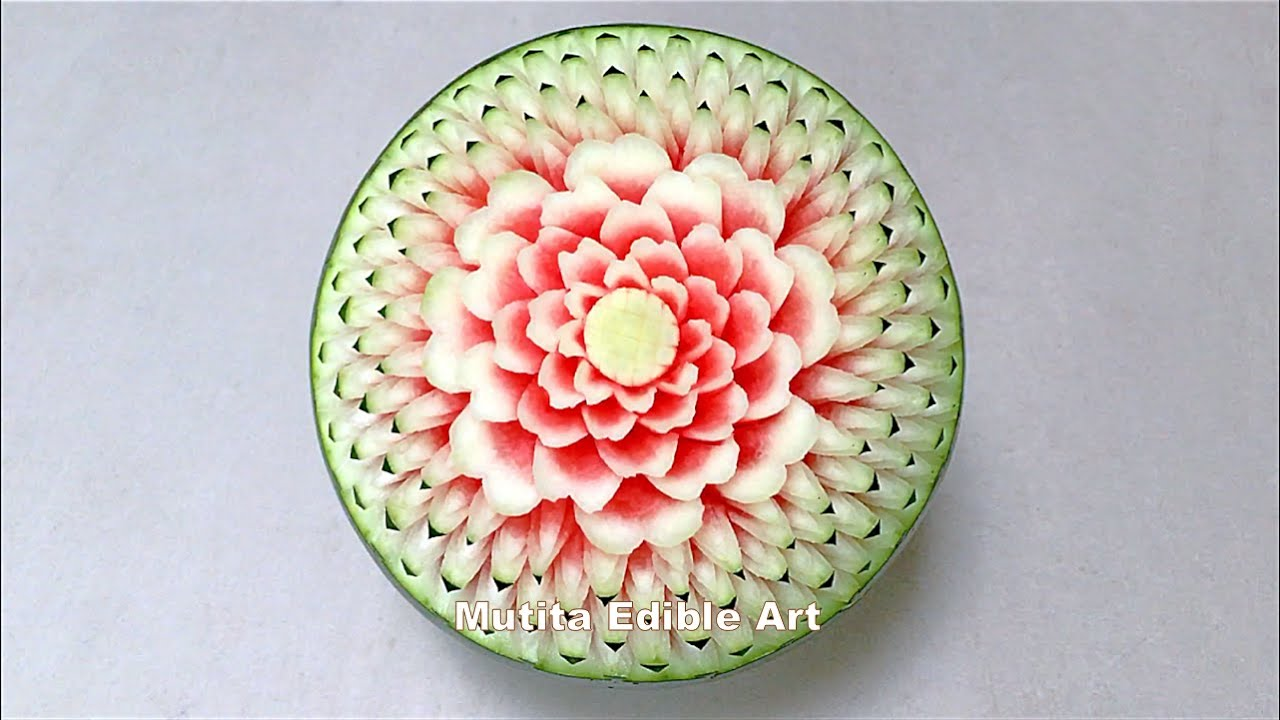 Watermelon new design flower advanced lesson by