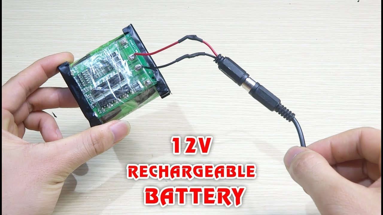 How to make 12V RECHARGEABLE BATTERY pack from 18650 battery