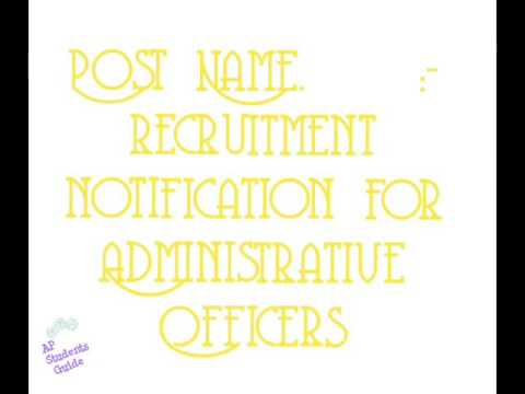 Administrative Officers