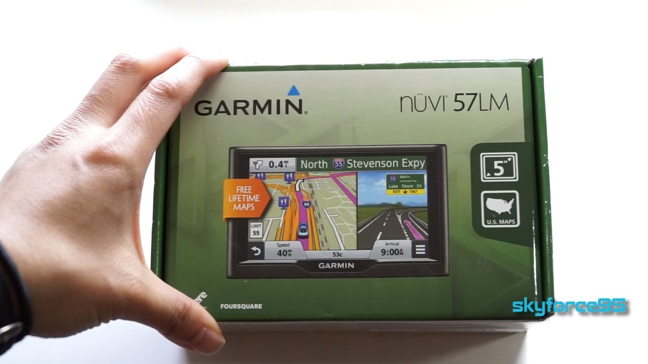 Garmin Nuvi 57LM GPS Unboxing