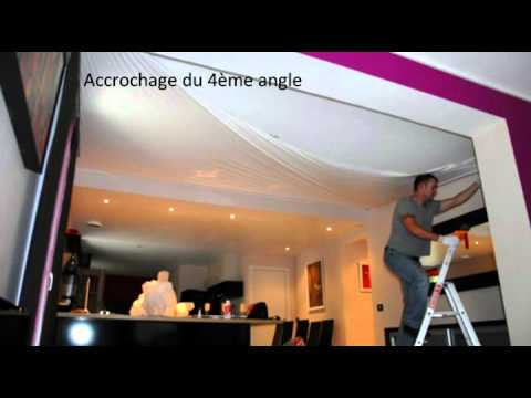 pose d 39 un plafond tendu newmat by adrym youtube. Black Bedroom Furniture Sets. Home Design Ideas