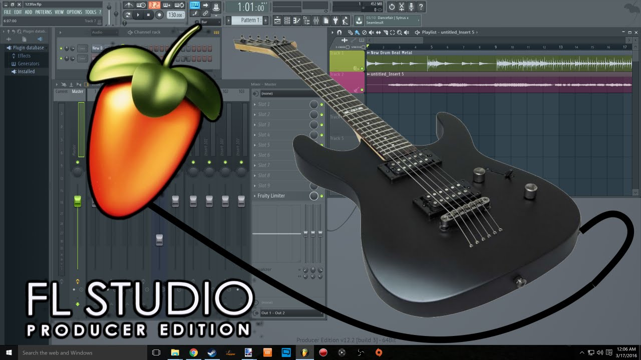 How To Guitar To Fl Studio 12  Usb Real Tone Cable