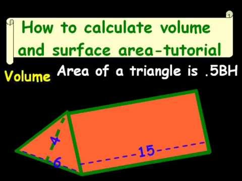 How To Calculate Volume And Surface Area Tutorial Youtube
