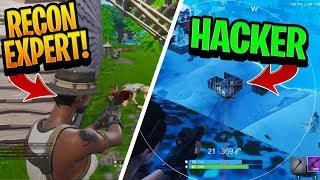 Two AIMBOT Hackers challenge a RECON EXPERT and get BANNED - Fortnite
