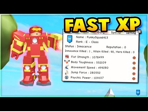 How To Gain FAST XP on Super Power Training Simulator