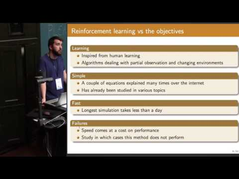 Reinforcement learning for decision making in agent-based models