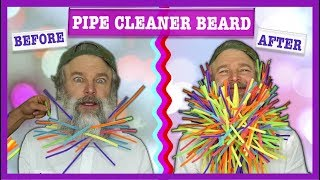250 PIPE CLEANERS IN HIS BEARD - CHALLENGE (FULL VIDEO)