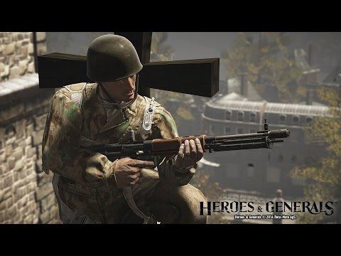 Gameplay Heroes & Generals para FG42 FR