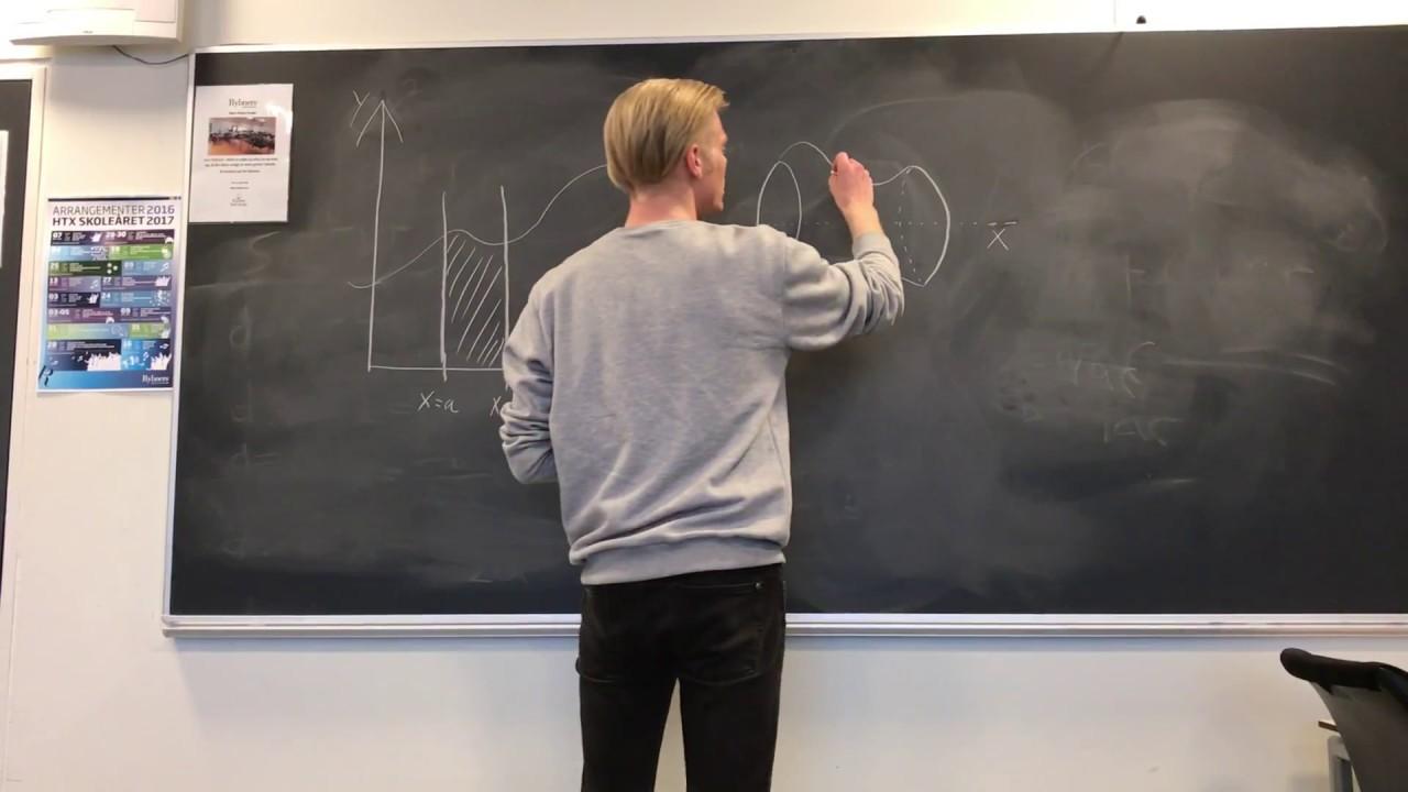 Bevis for rumfanget af et omdrejningslegeme omkring x-aksen