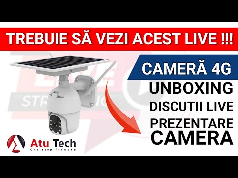 Unboxing LIVE Camera SPEED DOME, 4G, cu panou solar, 100% independenta