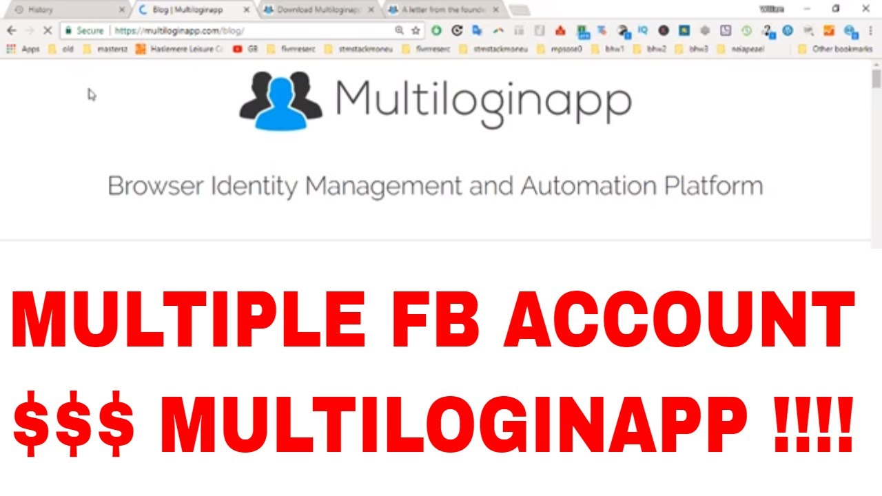Review of Multiloginapp , a tool for multiple facebook accounts