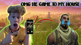 Do Not Call The Default Skin In Fortnite Battle Royale! *OH MY GOD HE CAME TO MY HOUSE*