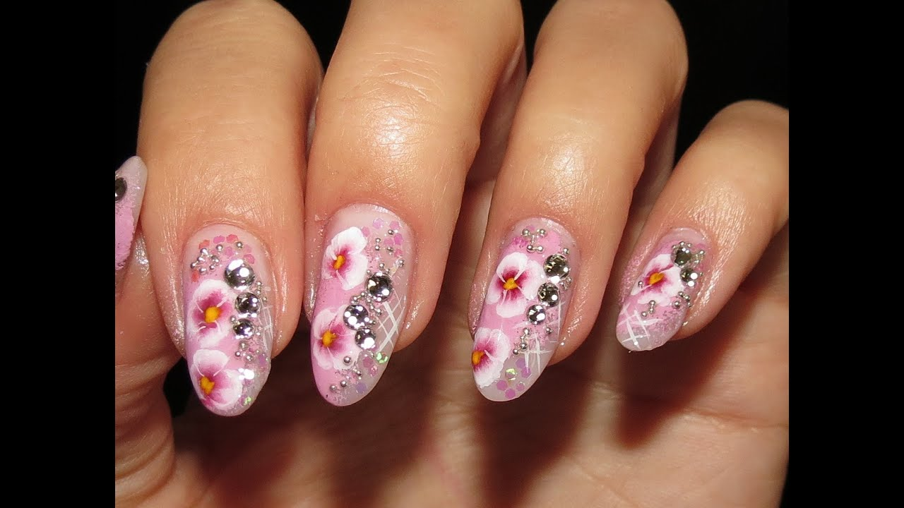 Elegant Autumn Nail Art tutorial Inspired By Dried Flowers - YouTube