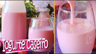 Iogurte Caseiro de Morango ou Danone Caseiro – Económico e Fácil