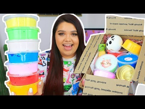 HUGE SLIME PACKAGE REVIEW! Famous Etsy Slime Shops! GLITTER.