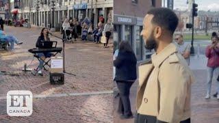 John Legend Surprises Street Performer