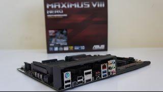 ASUS MAXIMUS VIII HERO review, test, intel i7 6700k overclock