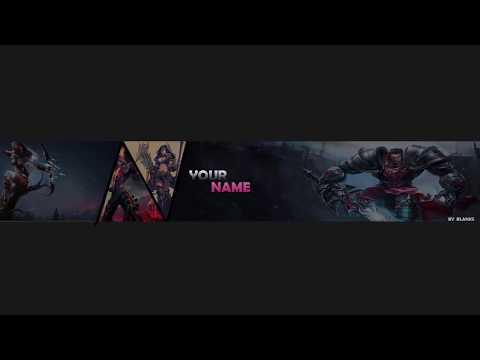 League Of Legends Channel Art Template Photoshop