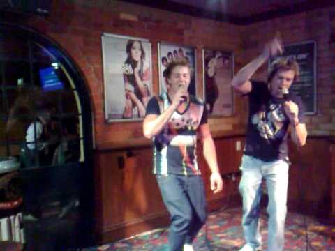 corey and paul karaoke...