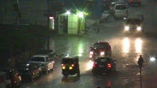 برك مياه في المنصورة هطول أمطار غزيرة على مدن في الدقهلية