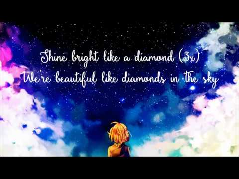 Nightcore - Diamonds (Lyrics) ◆◇