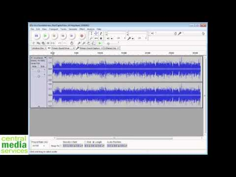 Converting MP3 With Audacity - YouTube