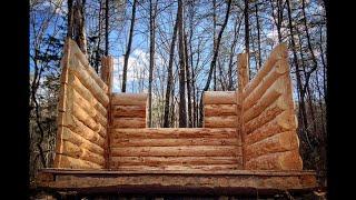 10 x 8 log cabin episode 10 the walls part 4