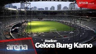 80% Jadi, Begini Bentuk Terkini Stadion Gelora Bung Karno