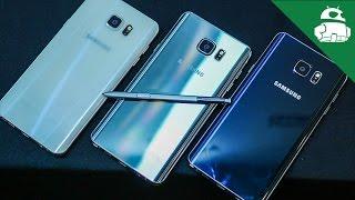 Samsung Galaxy Note 5 Color Comparison