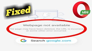 Download Fix Opera Mini Web Page Not Available Problem Solved