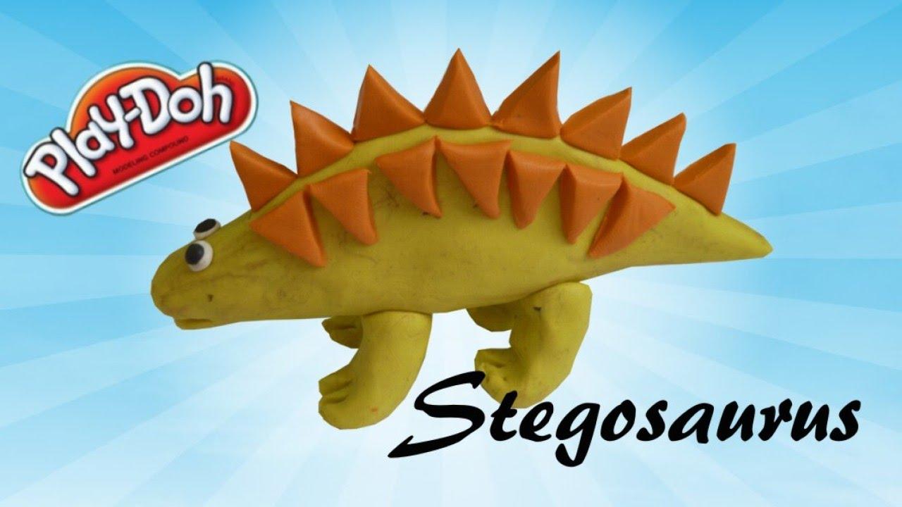 learn how to make stegosaurus dinosaur for kids using modelling clay
