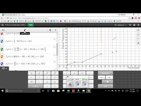 4 10 Sarah graph function  and table distance v  time part 5 Sarah goes half the disance