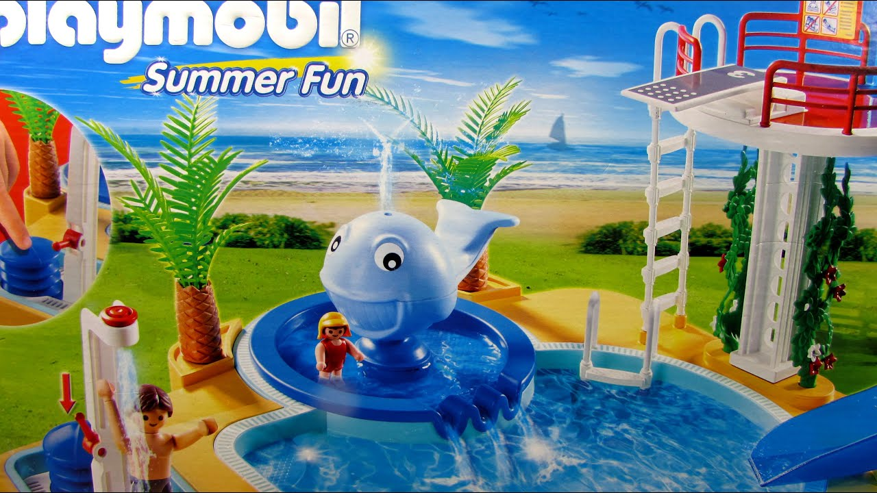 Playmobil Summer Fun Pool With Whale Fountain 5433 Youtube