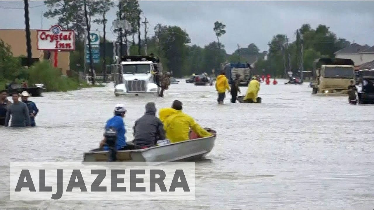 US: Harvey floodwaters overflow Houston reservoirs