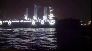 Проход Крейсера АВРОРА - Троицкий мост 16,07,2016г  Cruiser AURORA - Trinity Bridge 16,07,2016 g