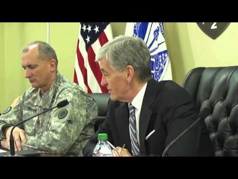 Secretary of the Army John McHugh visits Joint Base Lewis-McChord, WA