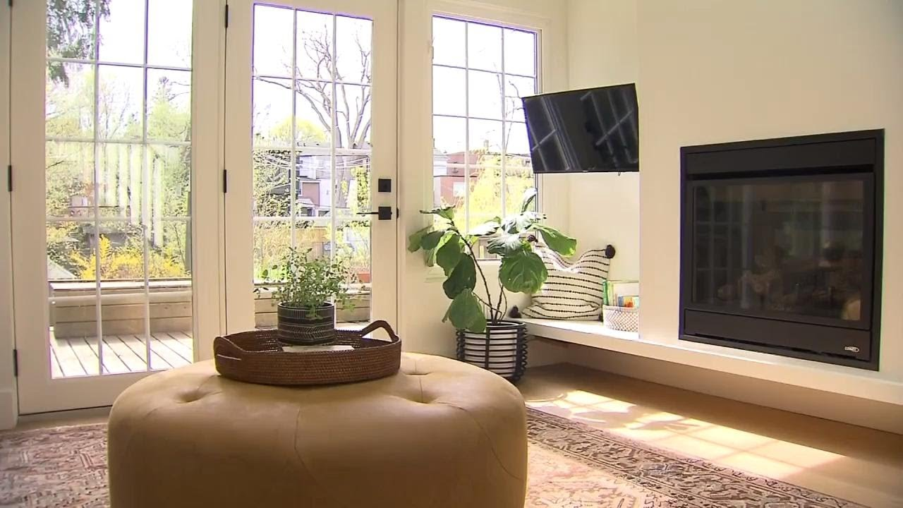 A Boho Chic Family Room Renovation And Paint Makeover Youtube