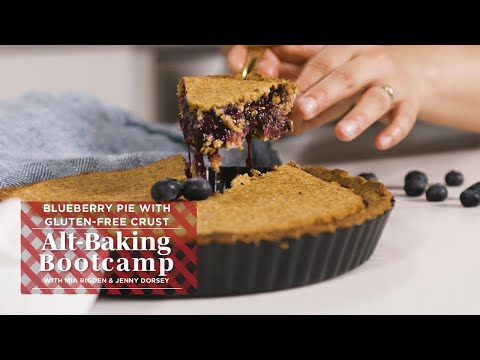 Healthy Blueberry Pie Recipe With Gluten-Free Crust | Alt-Baking Bootcamp