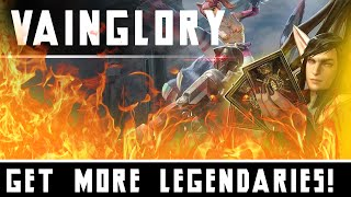 How To Get More Legendary Cards With Less Glory In Vainglory!