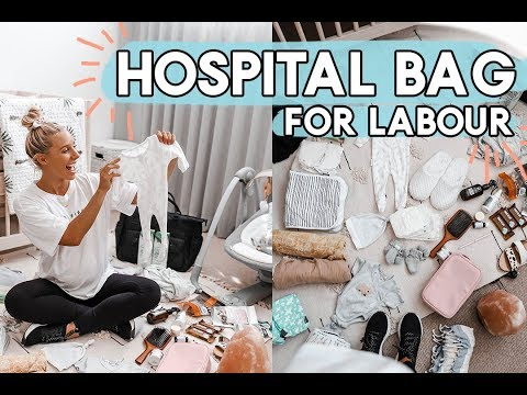 What's In My Hospital Bag!? PACK WITH ME! What I'm Bringing for a Natural Labour