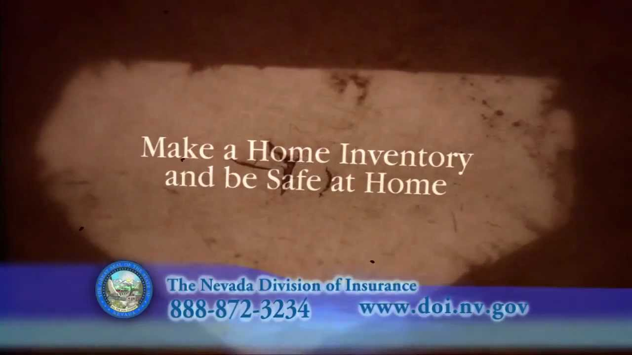The Nevada Division of Insurance: Home Inventory - YouTube