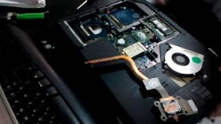 Разборка,чистка,смазка вентилятора,сборка ноутбука  Acer Aspire 5520G