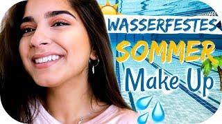 Tipps für ein schnelles WASSERFESTES Make Up ☀️🌴für Urlaub, Strand, Schwimmbad   Sanny Kaur