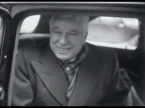 Charlie Chaplin à l'aéroport de Genève (1952)